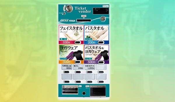 「店舗デザインに合わせたオリジナル小型券売機」でスポーツ用品やグッズ販売